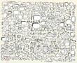 Notebook Doodle Sketch Design elements Set