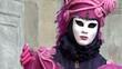 close-up pink costume Venice carnival