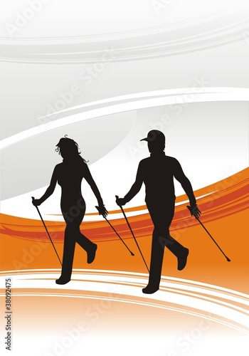 nordic walking template