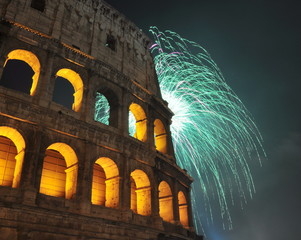 Colosseum Firework 2012