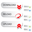 Vector buttons - download, reload, upload
