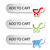 Vector shopping cart item - add buttons
