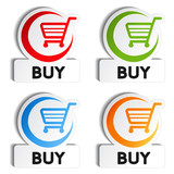 Fototapety Vector shopping cart item - buy buttons