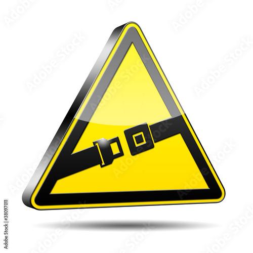 Icono peligro cinturon de seguridad 3D