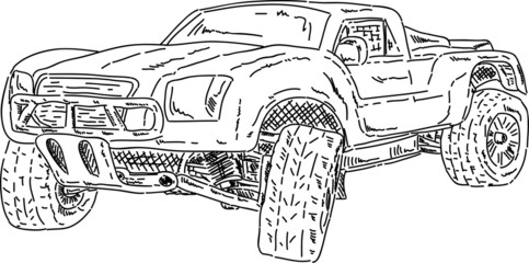 off-road race short truck