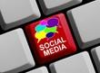 Tastatur - Sprechblasen Social Media