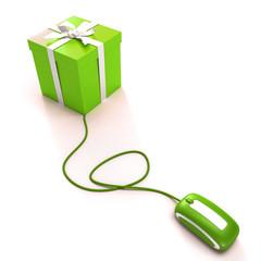 Online gift shopping green