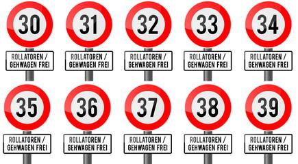 Geburtstag - Rollatoren und Gehwagen frei 30er