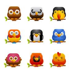 Bird icons 1