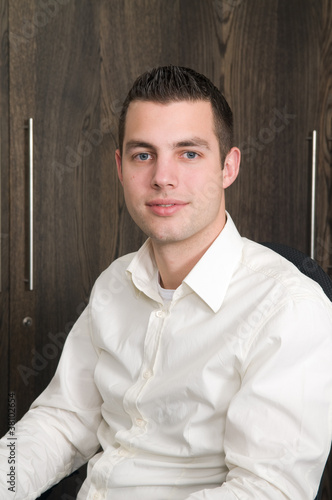 Male portait in an office