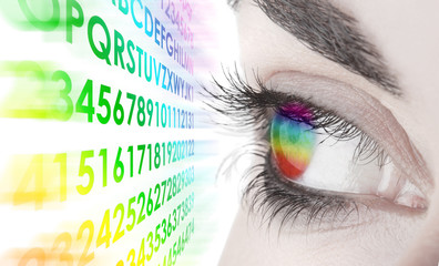 occhio colorato
