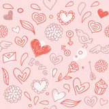 seamless love pattern - vector illustration