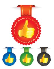 vector set of badges with best choice signs