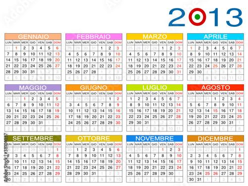 Calendario 2013 - Italia