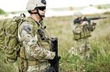 Soldier in patrol