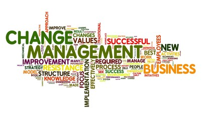 Change management in word tag cloud on white