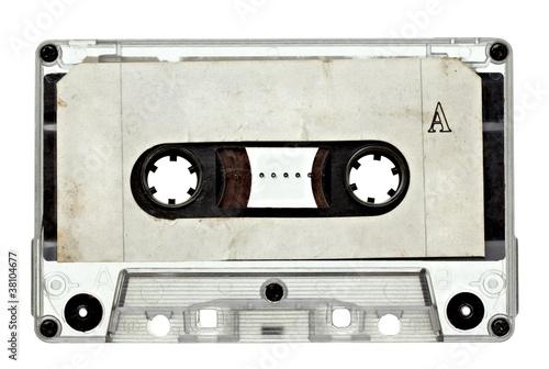 Leinwanddruck Bild music audio tape vintage