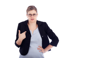 Angry offended business woman