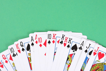 Poker playing cards background