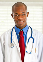 African doctor in hospital