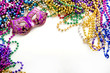Mask and mardi gras beads - 38105879