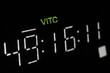Macro shot-display of the broadcast video player, VITC