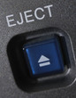 "Macro shot of the ""Eject"" button"