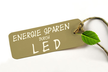Energie sparen durch LED-Technik - Plakette
