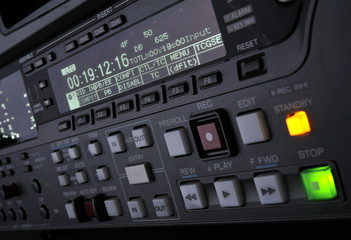 Close-up of the front panel of the digibeta recorder