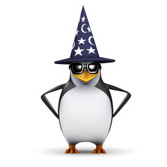 3d Penguin is a magical wizard