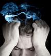 Stress Konzept - Rauchender Kopf