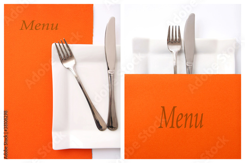 Restaurant menu, place for text