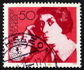 Postage stamp Germany 1975 Else Lasker-Schuler, poet and playwri