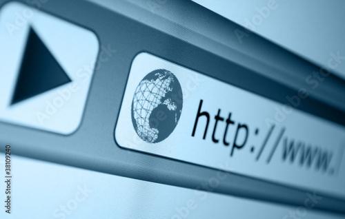 Leinwanddruck Bild Address Bar