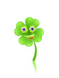 Shamrock face with eyes and smile