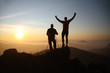 Two men on the top of mountain