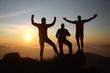Victory on the mountain peak