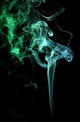 green and teal smoke
