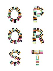 Licorice Alphabet Letters O - T