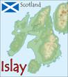 islay scotland map flag emblem