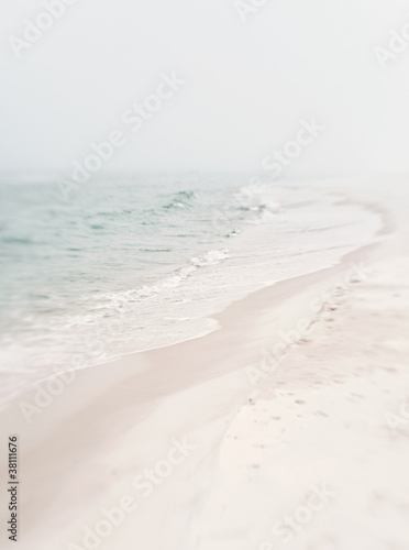 Soft Foggy Seashore - 38111676