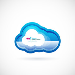 Blue technology cloud