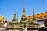 Authentic Thai Architecture in Wat Pho,Thailand poster
