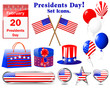 Icons for of the Presidents day.