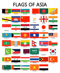 Flags of Asia , Portrait