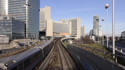 Skyline Uno City Vienna with Subway Underground