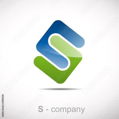 Logo letter S, environment # Vector