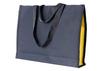 black shopping bag on white background