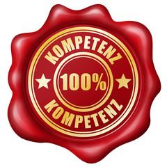 100% Kompetenz - Wachssiegel