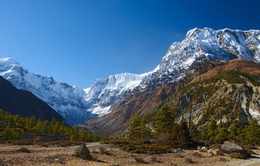 View on  the Annapurna mountain of Nepal
